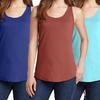 Women's Junior Stretchy Cotton Tank Top (3-Pack)