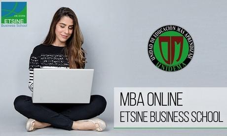 Máster en dirección y administración de empresas en Etsine Business School Unidema (hasta 99% de descuento)