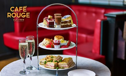 image for Afternoon Tea with Optional Prosecco for Two or Four at Café Rouge, Multiple Locations (Up to 24% Off)