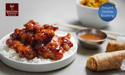3Course Chinese Dinner and Wine for Two $39 or Four People $75 at Modern Chinese Restaurant Up to $93 Value