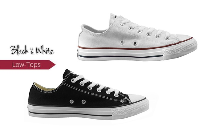 $59 for One Pair of Converse Chuck Taylor All-Star Low-Tops in Black or White (Don't Pay $100)