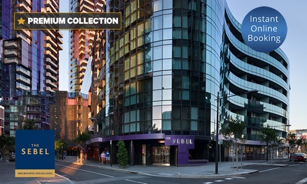 Melbourne: 2 or 3Night Stay for Two or Four People w/ Late CheckOut, parking & Wine at The Sebel Melbourne Docklands