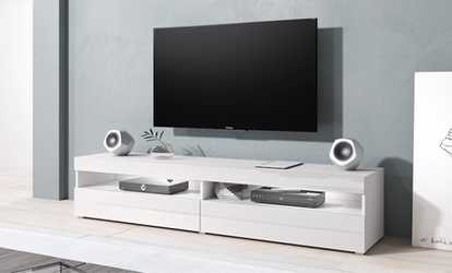 Credenza Per Tv : Mobile tv e sottoscala plasmati con il cartongesso