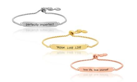 Nina & Grace Inspirational Lariat Bracelet