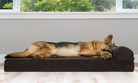 Corduroy Orthopedic Chaise Lounge Pet Bed