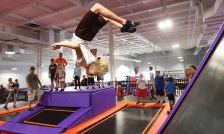 Jump Passes or Party for Ten Jumpers at Surge Trampoline Park (Up to 50% Off). Seven Options Available.