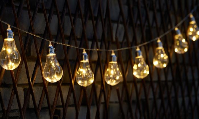 Guirnalda de luz solar groupon goods for Luces exterior bombillas