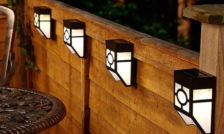 Pack de hasta 8 apliques solares con luces LED