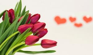 Quedeflores Com: Ramo de 10, 20 o 30 tulipanes rojos con envío gratuito desde 19,95 € en Quedeflores.com