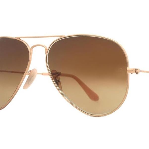 3020d9addc0 Ray-Ban Matte-Gold Brown-Gradient Original Aviator Sunglasses