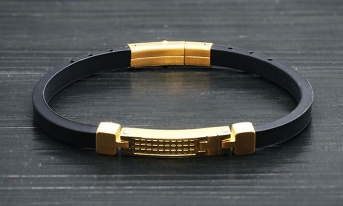 9899f93605a1a Minoxia Men's Stainless Steel Bracelets | Groupon