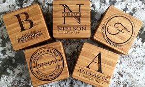 Up to 53% Off Personalized Bamboo Coasters