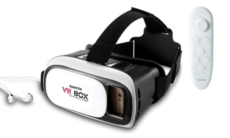 Apachie Virtual Reality 3D Headset with Optional Bluetooth Remote