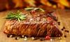 Menu délicieux en 3 services de pâtes, steak ou poisson