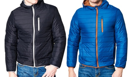Men's Lightweight Quilted Puffer Jacket with Hood