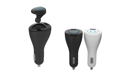 $34 for a 2in1 Car Bluetooth Headset Kit with a Charger Dock for Moblie