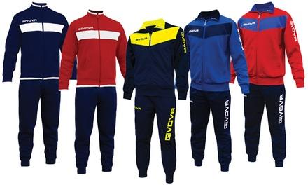 Tuta Givova primaverile in cotone felpato Uomo/Donna disponibile in 3 modelli e varie taglie e colori