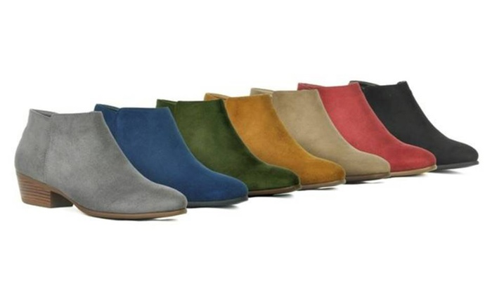 70% Off on Women\'s Low Heel Ankle Boots | Groupon Goods