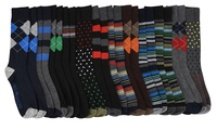 Luigi Franconi Men's Dress Socks (12-Pairs)