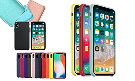 Cover per iphone slim in silicone con interno in morbida fodera