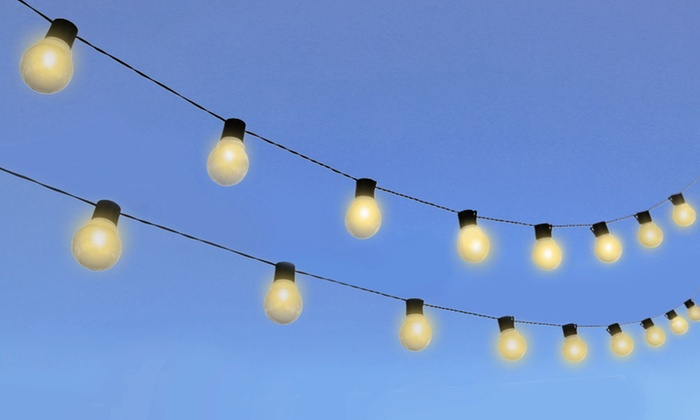 String Lights Vistaprint : 33% Off on Solar-Powered String Lights Groupon Goods