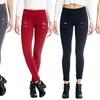Junior Women's Front Stitch-Seam Ponte Leggings