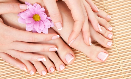 One or Two Mani-Pedis or a Gel Manicure at Studio B (Up to 50% Off)
