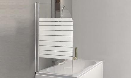 Home Deluxe Abtrennungs-Wand aus 6 mm starkes ESG-Sicherheitsglas für Dusche 140 x 60 x 0,6 cm  (Frankfurt)
