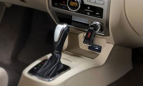 1 o 2 cargadores para el coche con Bluetooth, función manos libres, reproductor de MP3 y transmisor FM