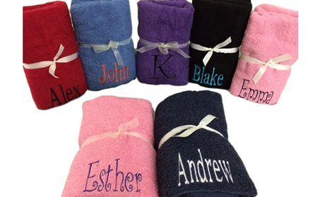 Personalized Embroidered Bath/Beach Towels from Cay Boutique
