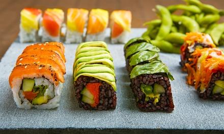 Bandeja de 50 piezas de sushi take away más botella de vino por 24,90 € en Sushi Kokoro
