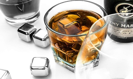 for a FourPiece Stainless Steel Whiskey Stone Ice Cube Set