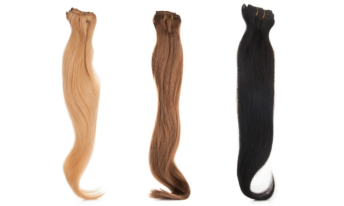 Procabello hair extension set groupon goods procabello hair extension set procabello luxury collection real remy 19 or 22 hair pmusecretfo Image collections