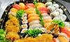 Menu sushi con Prosecco