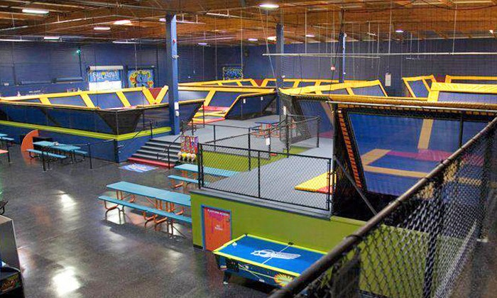 Sky High Sports - Southwest Portland: Trampolining or Private Group Trampolining at Sky High Sports (Up to Half Off). Five Options Available.