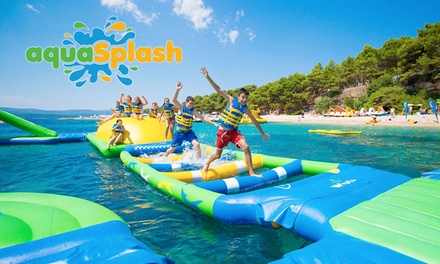 Inflatable Water Park Session for Child Aged 5-9 ($9) or Person Aged 10+ ($15) @ Aqua Splash Redcliffe (Up to $20 Value)