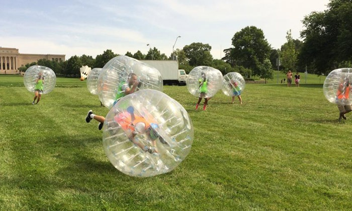 Bubble Soccer International - Theis Park: One Game of Bubble Soccer for 4, 8, or 16 at Bubble Soccer International (Up to 44% Off)