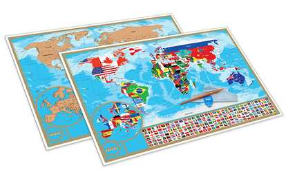 Educational stem toys deals coupons groupon shop groupon scratch off world map poster gumiabroncs Images