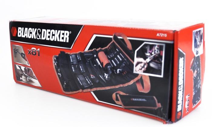 trousse outils black decker 81pcs groupon. Black Bedroom Furniture Sets. Home Design Ideas
