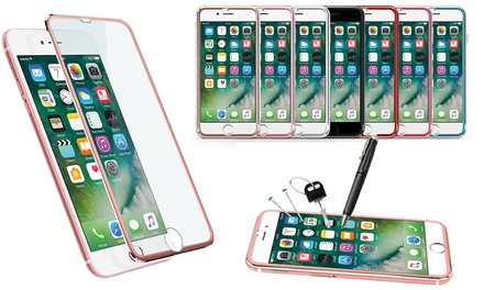 3D Metal-Tempered Screen Protector for iPhone in Choice of Colour