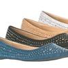 Lasonia Women's Studded Pointed Toe Flats