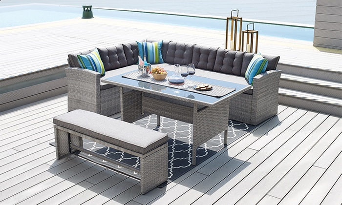 Astonishing Rattan Corner Sofa Dining Set Home Decor 88 Cjindustries Chair Design For Home Cjindustriesco