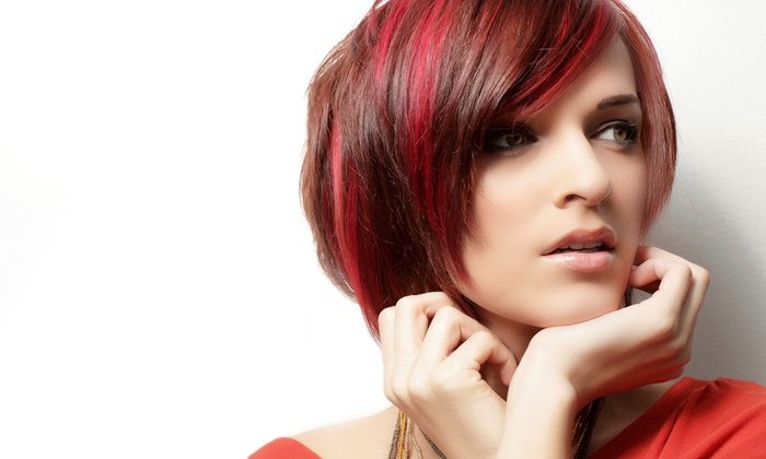 The Green Room Organic Hair Lounge - Downtown Scottsdale: Haircut and Style with Optional Color or Partial Highlights at The Green Room Organic Hair Lounge (Up to 61% Off)