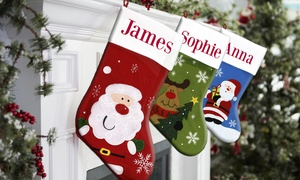 Dinkleboo: One or Two Personalised Christmas Stockings from Dinkleboo (Up to 61% Off)