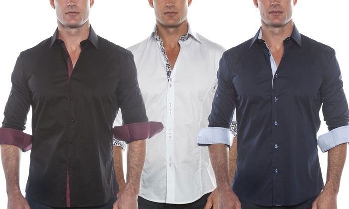 Isaac B. Men's Cotton Button-Down Shirts