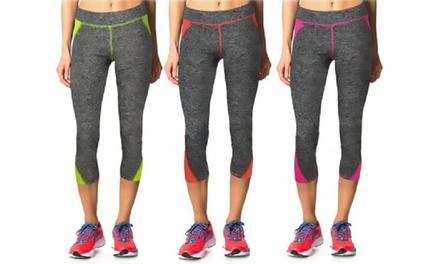 Leggings sportivo da donna in tessuto tecnico disponibile in 3 colori e varie taglie