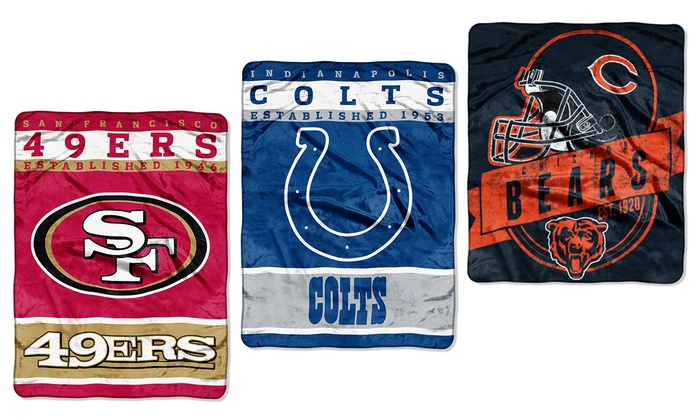 NFL Throw Blankets Groupon Goods Impressive Nfl Blankets And Throws