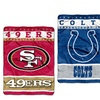 NFL Raschel, Silk Touch, or XL Raschel Throw Blanket