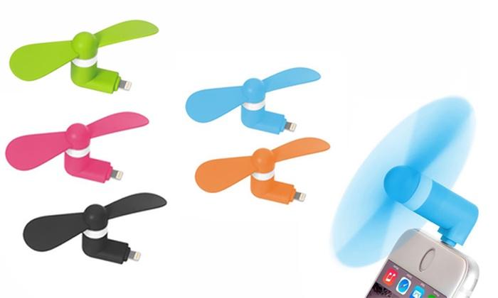 Groupon Goods Global GmbH: 2 Mini-Ventilatoren mit Lightning- oder Mini-USB-Anschluss (80% sparen*)