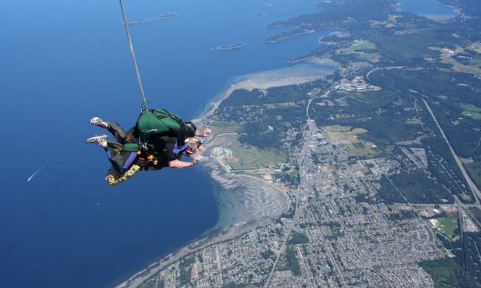 Tandem Skydiving Jump - Skydive Vancouver Island | Groupon